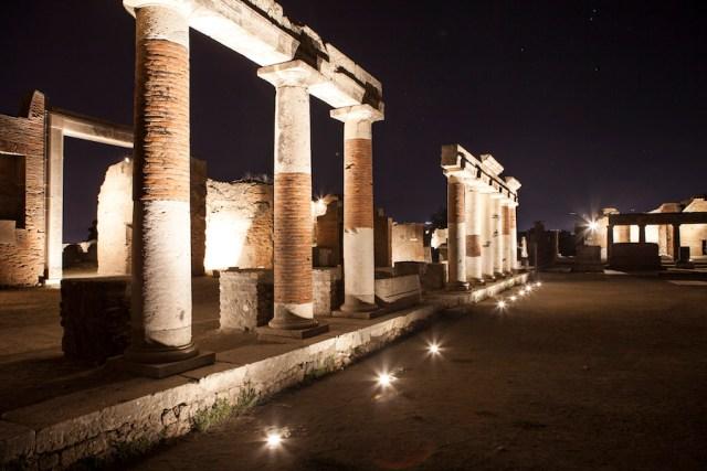 Pompei are un nou itinerar cu lumină și sunet