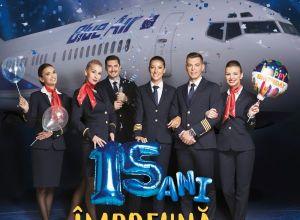 Aniversarea a 15 ani de Blue Air vine cu pachete speciale pentru călători