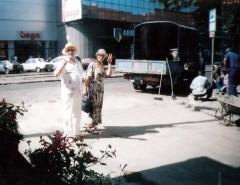 Corina Victoria Sein şi Emil Şain în drum spre redacţie