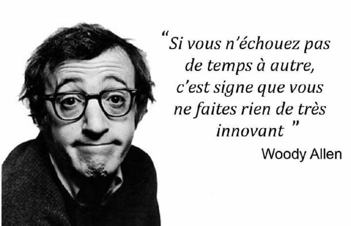 Citation de Woody Allen sur l'échec