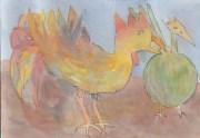 Dec26_IC #5 rooster + bird WIP_crop