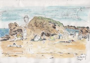 Aug5_Kerou_beach paintng