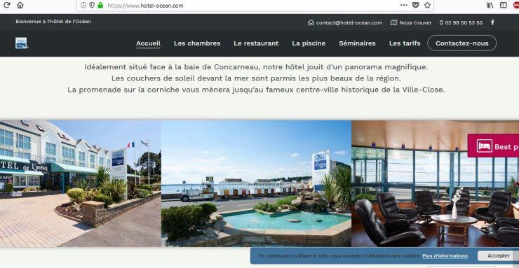 L'Hôtel de l'Océan à Concarneau