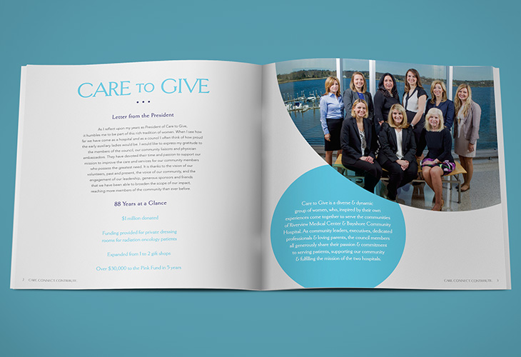 logo design, annual report, non-profit, impact report, Red Bank, Holmdel, New Jersey, Medical