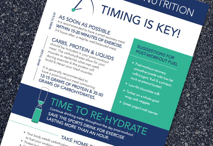 running nutrition infographic, workout, Riverview Medical Center, Little Silver 5k