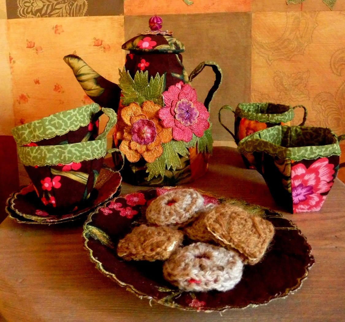 Stitched Teaset - Loves, Lives and Loss