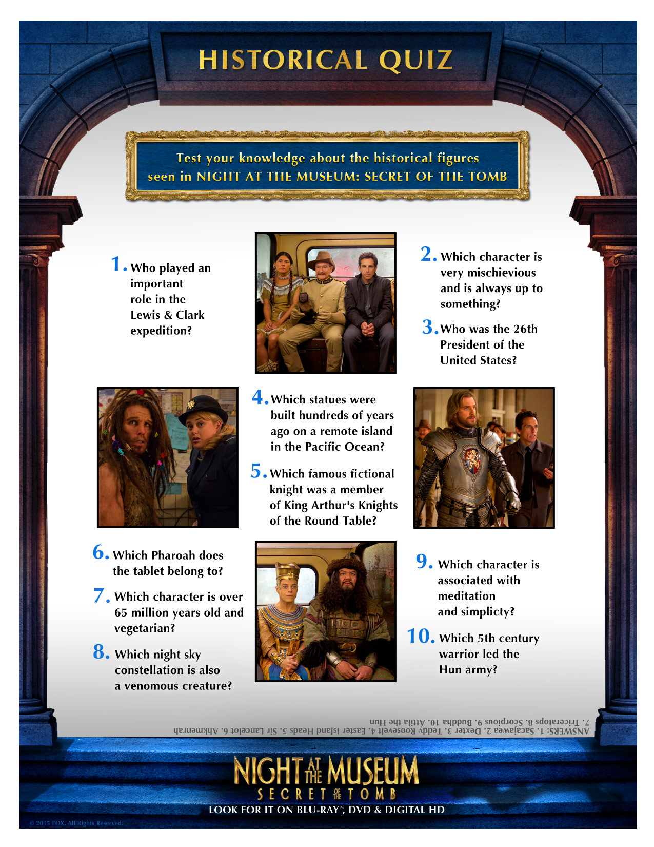 Night At The Museum Secret Of The Tomb Giveaway Free