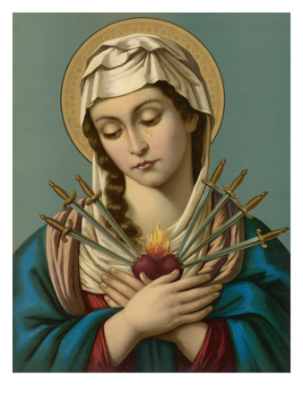 Image result for The seven swords Mary image