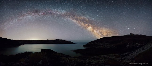 Tom O'Donoghue - March Guest Astrophotographer, Milky Way Arc from Sherkin island