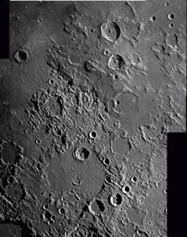 4 Panel Mosaic central moon region