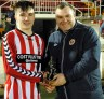 Mossie Linnane League cup 2015/16 man of the match Eoin O'Keeffe with Kevin O'Mahony (Cork AUL)