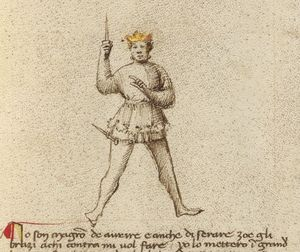 After taking away your dagger, to signify my victory I hold it in my raised hand in this manner.