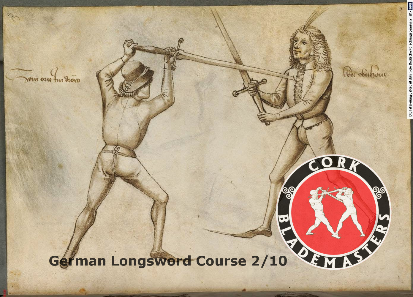 German Longsword Course 2/10 – Mon 02/10/2017