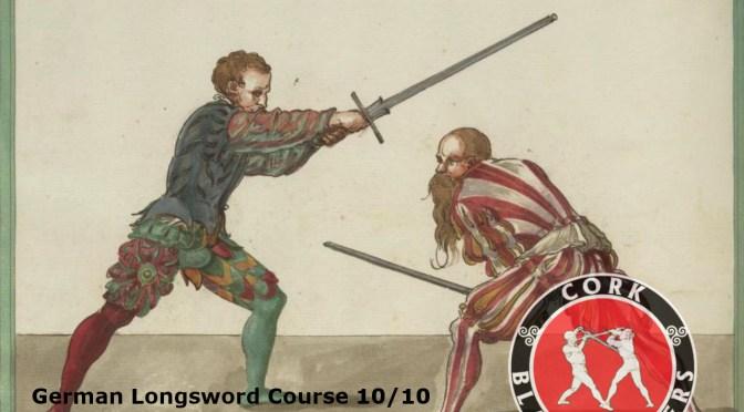 German Longsword Course 10/10 – Mon 18/12/2017