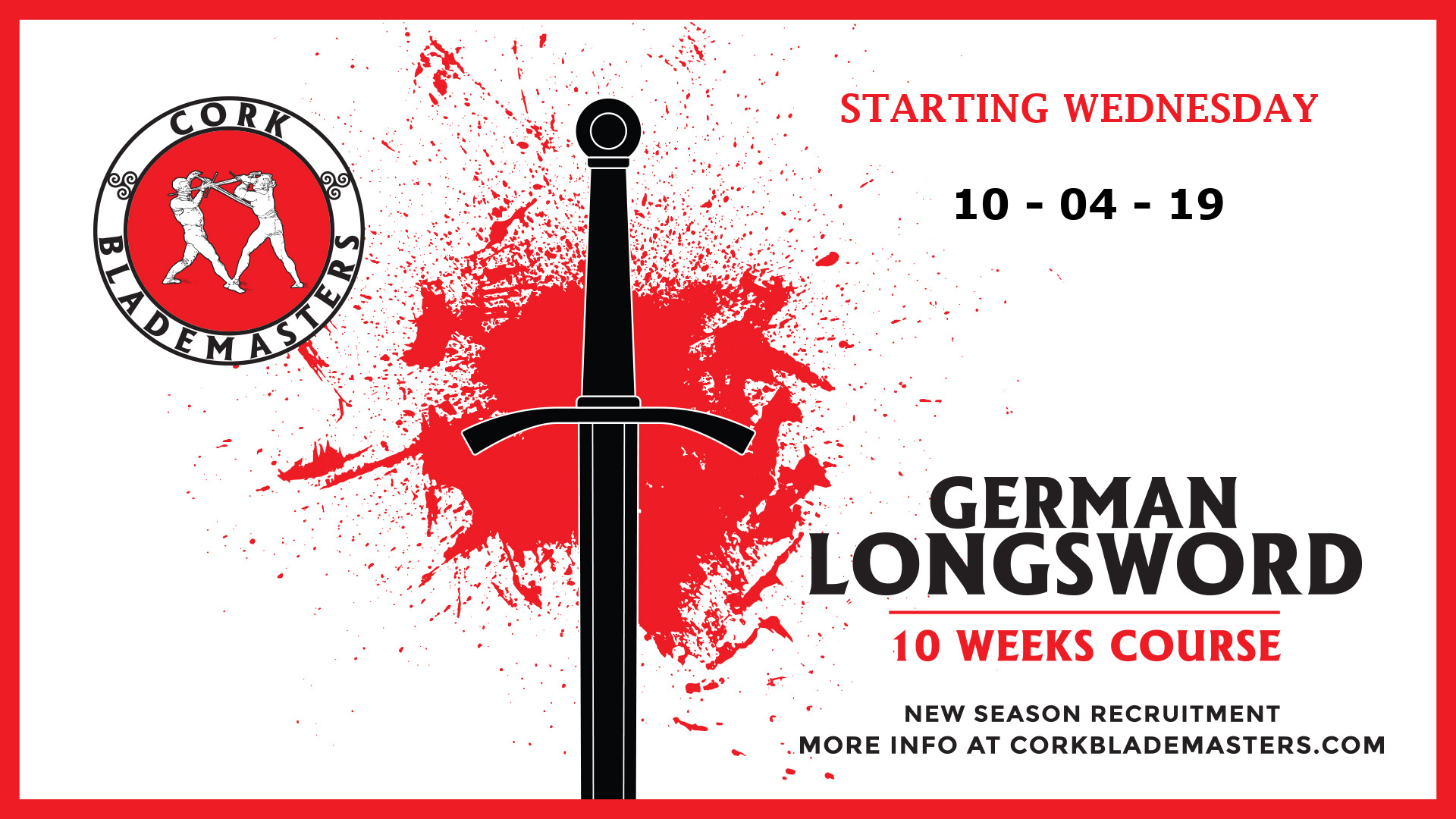 German Longsword Course starting tomorrow!