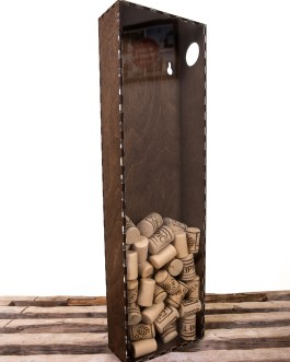 Corkbox 50 x 15 cm. – Ramme til Vinpropper