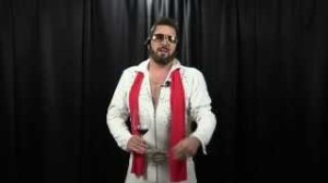 "This is me as Elvis. But don't tell me I have a ""king"" complex."