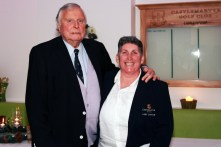 Honorary President Peter Alliss and Lady Captain Kate Heffernan pictured at the Castlemartyr members evening with Peter Alliss. Picture: Niall O'Shea