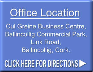 Cork Life Coach office loaction is Cul Greine Business Centre, Ballincollig Commercial Park, Link Road, Ballincollig, Cork.