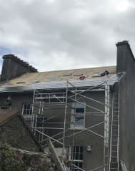 During New Slate Roof in Cork