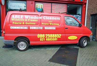Vehicle Branding - Able Van side