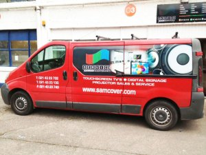 Vehicle branding - Samcover van