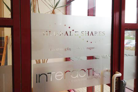 Global Shares Window Etched Glass