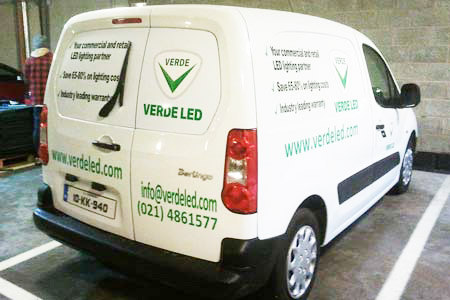 Verde LED Van Graphics