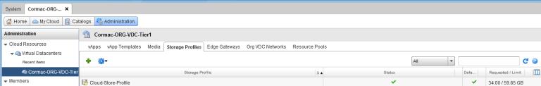 Storage Profiles in vCloud Director