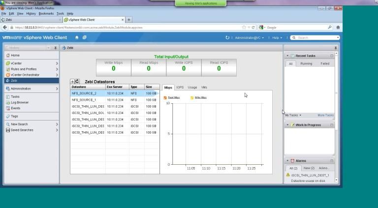 Tegile Integrated vSphere Client Plugin