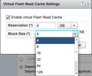 11. vFRC block size options