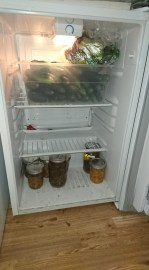 """fridge only"" mini-fridge for backstock"