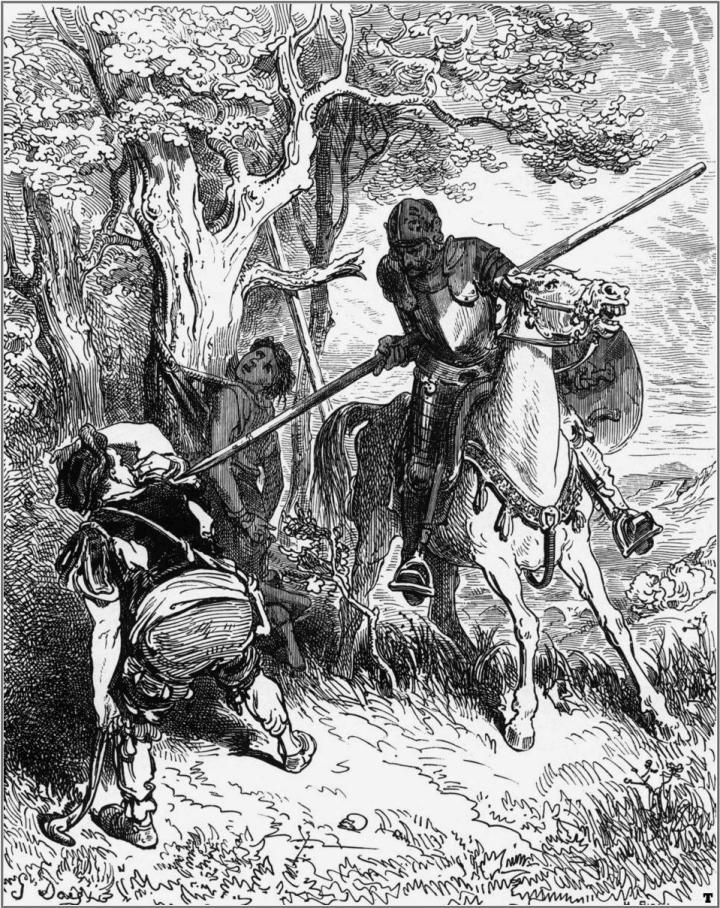 Gustav Doré Don Quijote illusztrációja 1863-ból