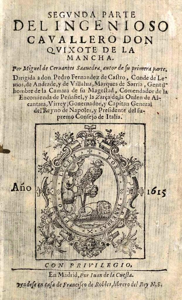 A mű 1615-ös kiadásának első lapja