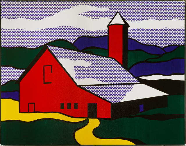 Museum Ludwig Koeln, ML, Roy Lichtenstein, Red Barn II, 1969, ML 1084