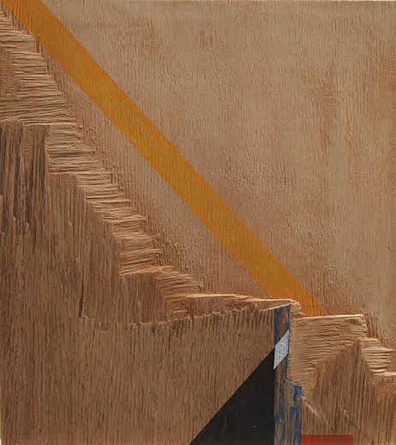 Égi jel, 2015 akril,furnér, 31,5x18,2 cm