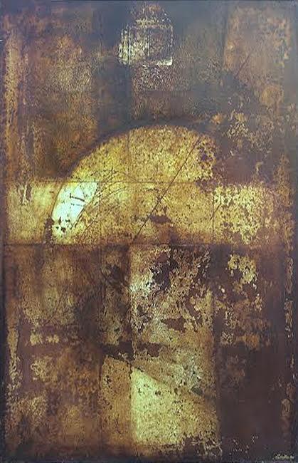 Húsvét után, 1998 akril, laminált farost, 100x80 cm