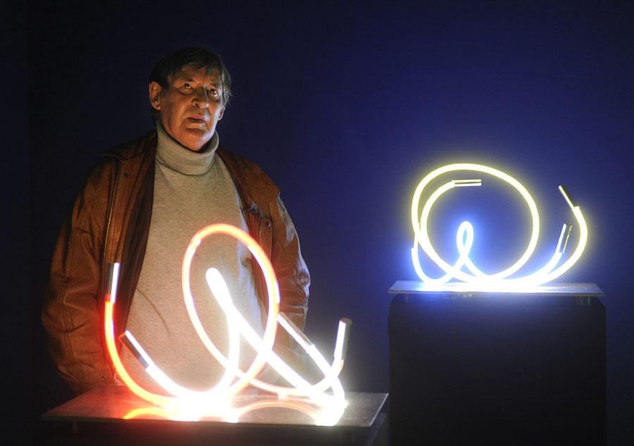 Csáji Attila Munkácsy Mihály-díjas festőművész, grafikus, a Magyar Művészeti Akadémia alelnöke MTI Fotó: Czimbal Gyula