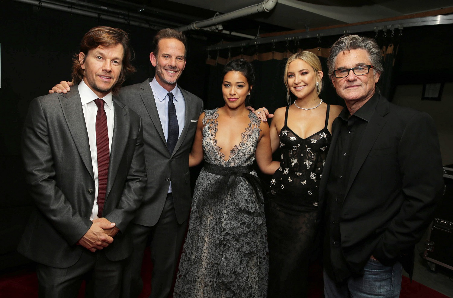 "Mark Wahlberg, Director Peter Berg, Gina Rodriguez, Kate Hudson and Kurt Russell seen at Lionsgate's ""Deepwater Horizon"" premiere at the 2016 Toronto International Festival on Tuesday, Sept. 13, 2016, in Toronto. (Photo by Eric Charbonneau/Invision for LionsgateAP Images)"