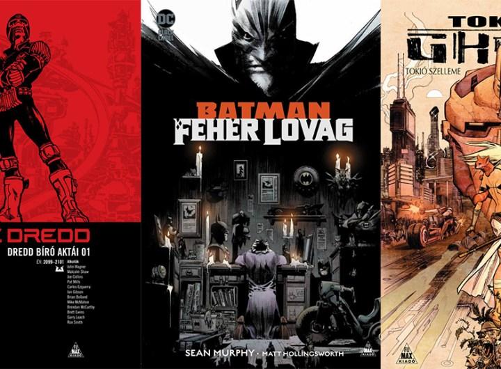 Dredd Bíró, Batman: Fehér Lovag, Tokyo Ghost. Forrás: Fumax Kiadó.