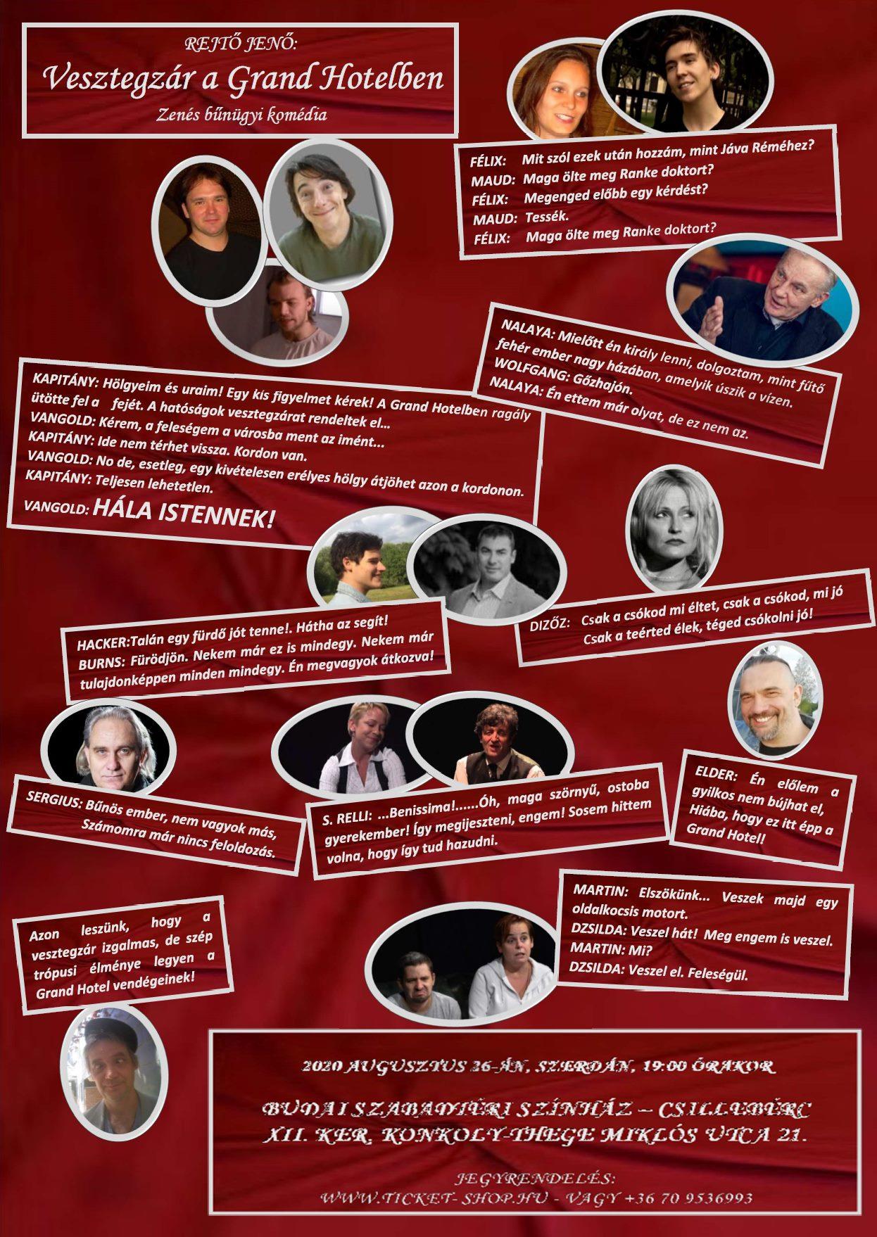 Karantén után Vesztegzár! – Rejtő Jenő a csillebérci Szabadtéri Színházba