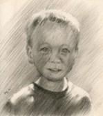 impressionistic portrait graphite pencil drawing thumbnail