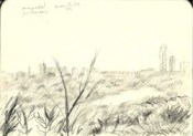 impressionistic landscape graphite pencil thumbnail