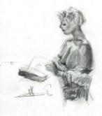 Realistic graphite pencil nude sketch thumbnail