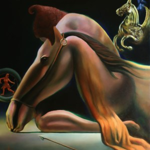 surrealistic nude oil painting