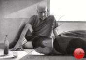 Cubistic portrait graphite pencil drawing thumbnail