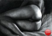 Erotic nude graphite pencil drawing thumnail