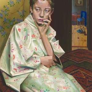 cubist portrait oil painting