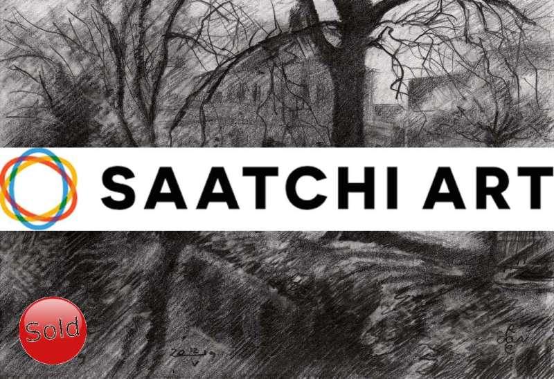impressionist landscape graphite pencil drawing promotion