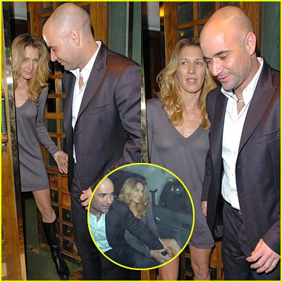graf and agassi at the Ivy